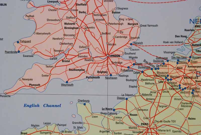 Mapa Scienna Kolejowa Europy Mapy Scienne Z Kodami Pocztowym