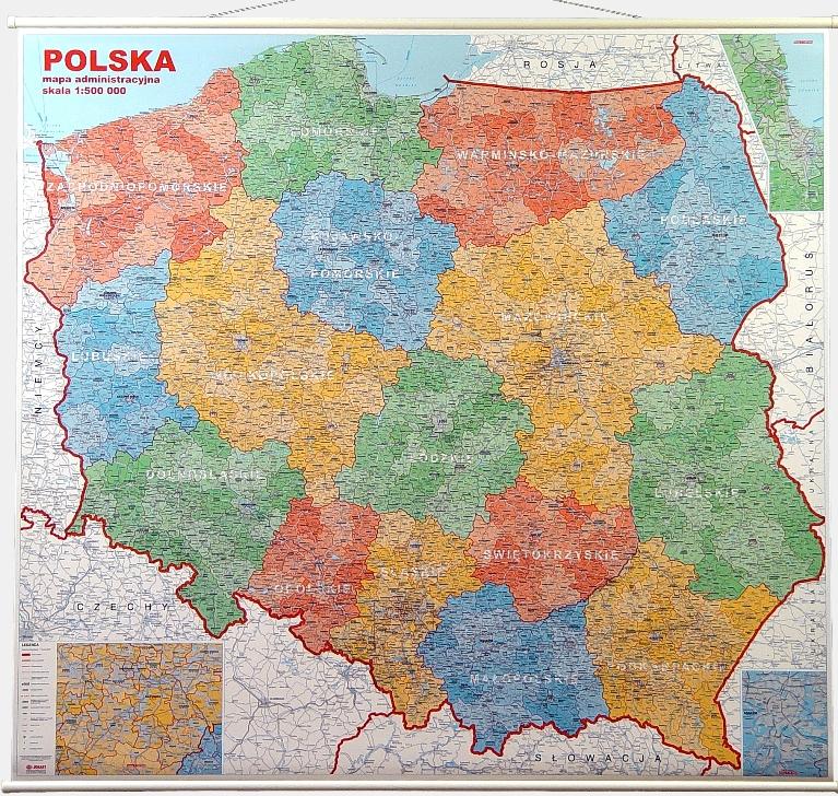 Ref Man140 Ggp Mapa ścienna Administracyjna Polski Z Podziałem