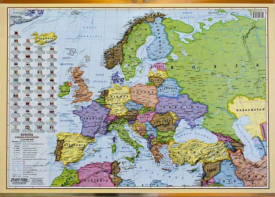 Mapa Scienna Polityczna Europy Mapy Scienne Z Kodami Pocztowym